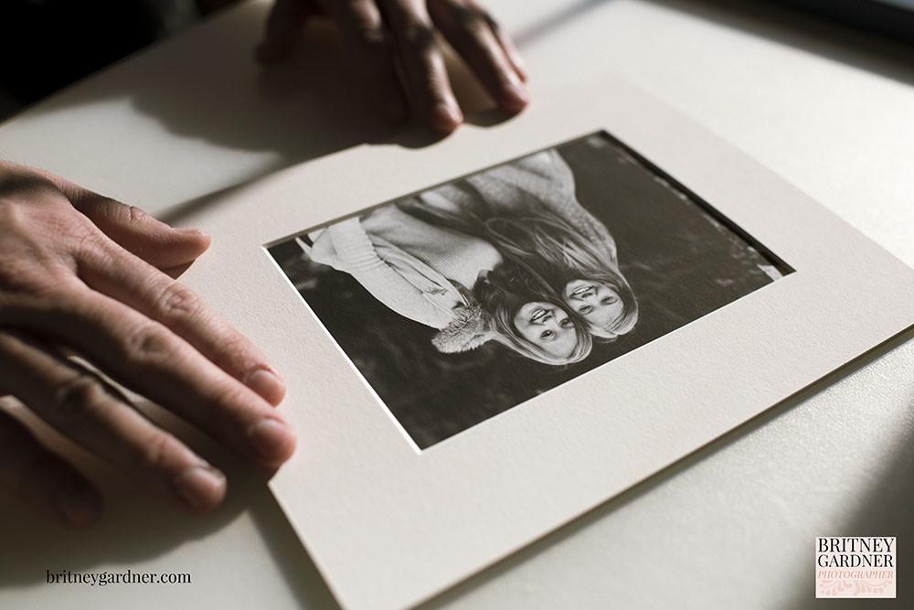 fine art matted prints in portfolio box