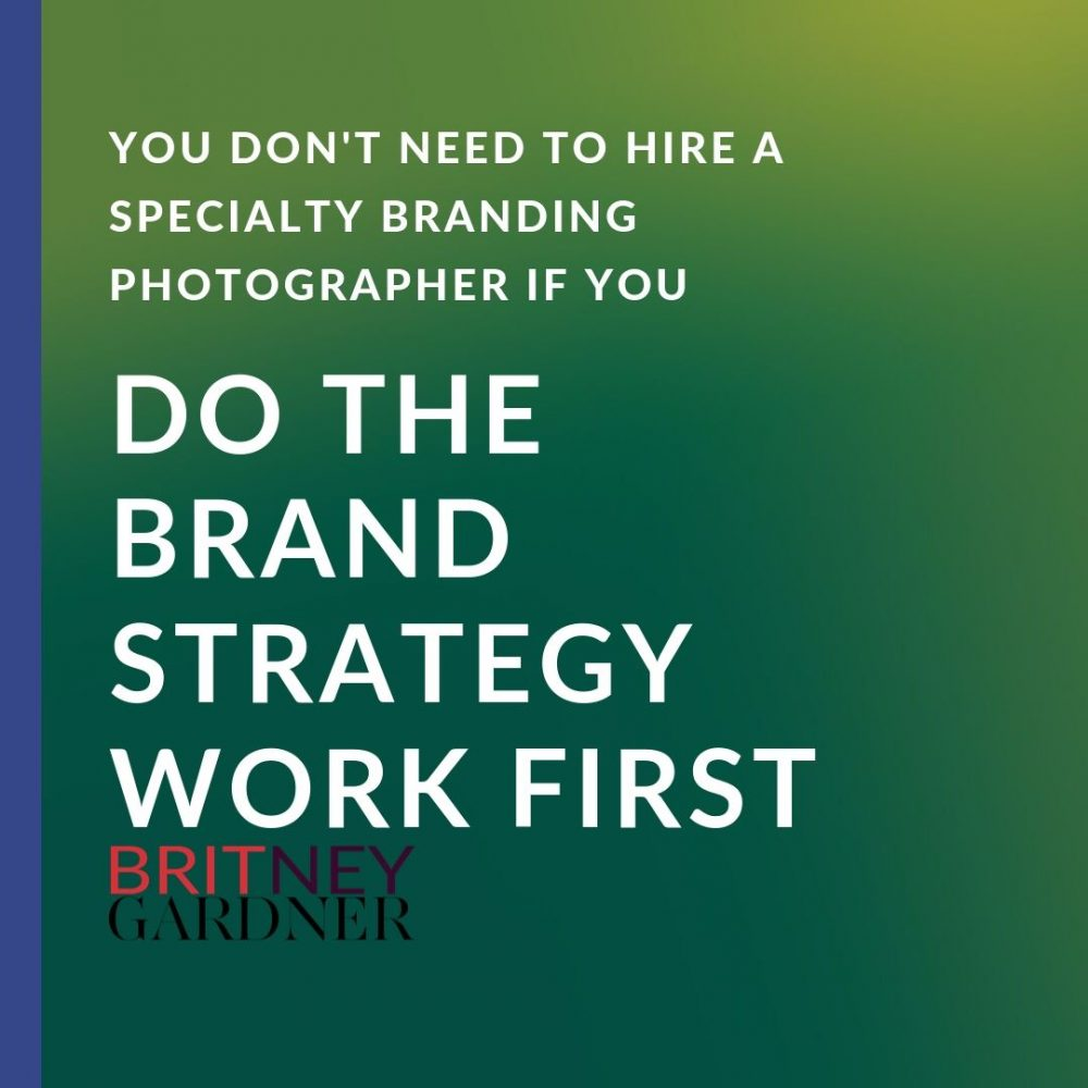 brand strategy in branding photography