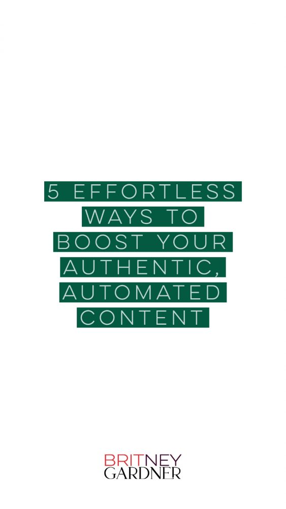 5 ways to make authentic automated content
