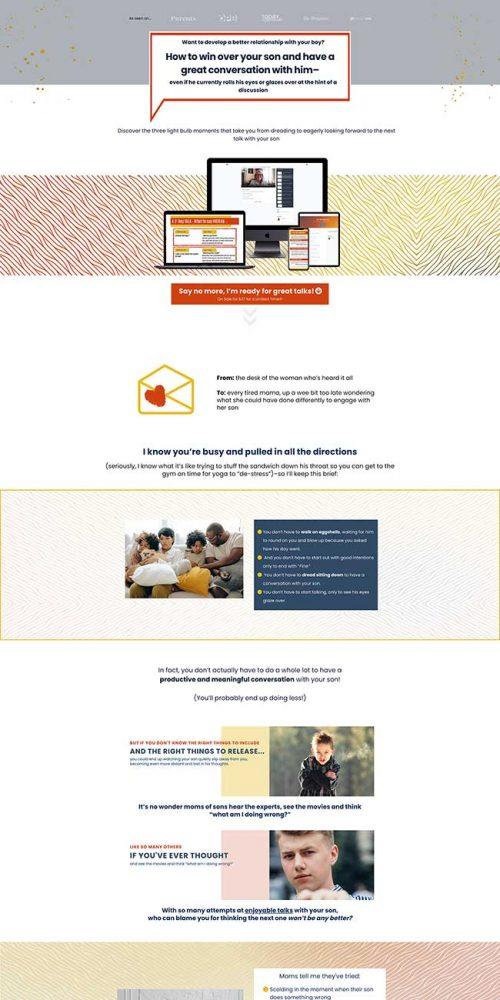 boy talk blueprint sales page