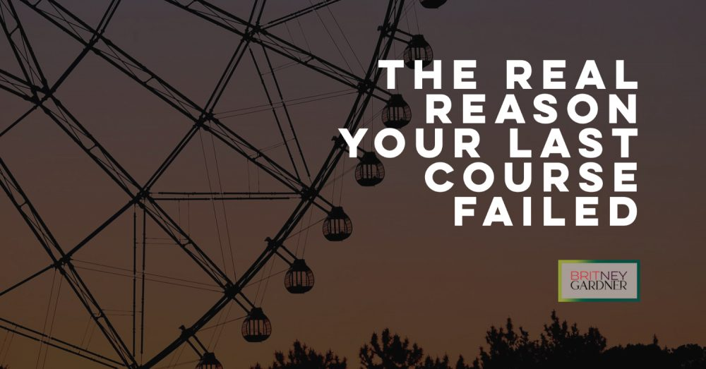 the real reason your course failed